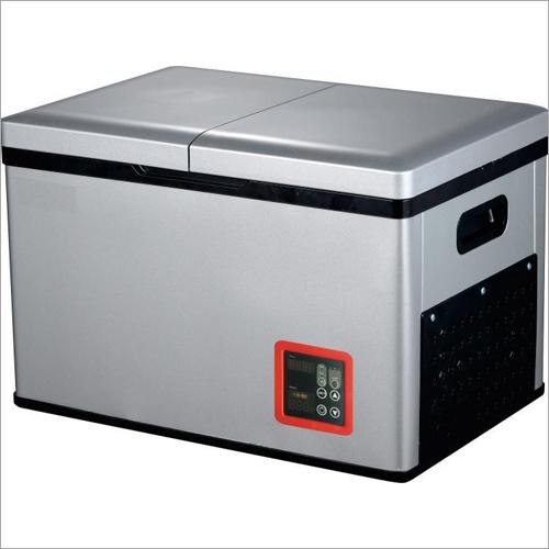 Two-Door DC 12V Compressor Camping Mini Portable Car Freezer