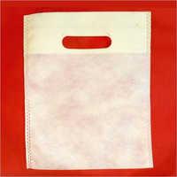 9 x 12 Inch White D Cut Non Woven Bag