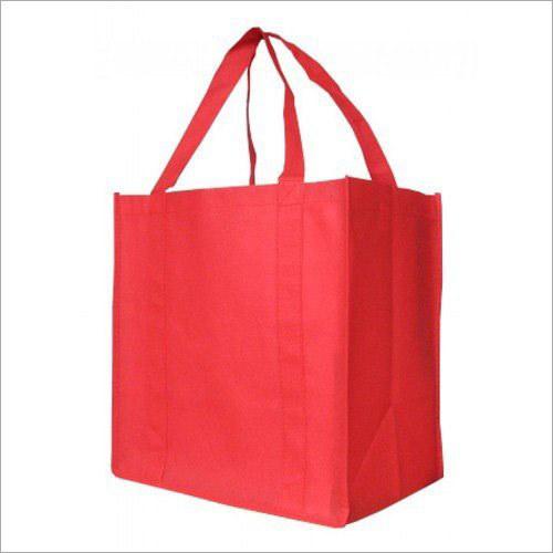 20x20 Inch Red Non Woven Loop Handle Grocery Bag