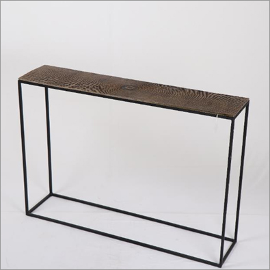 Side Table In Iron With Aluminium Top