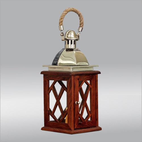Metal and Wooden Lantern