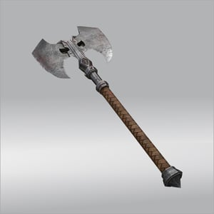 Medieval Forged Battle Axe