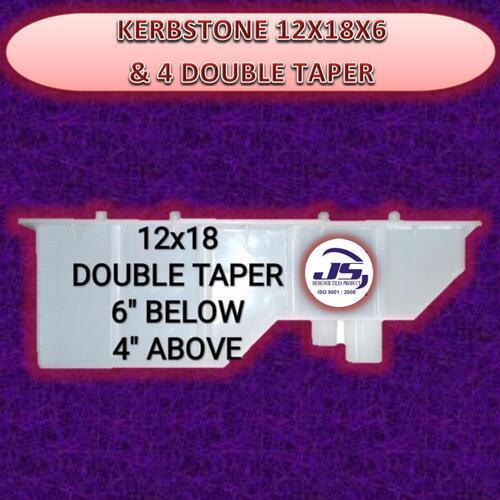 KERBSTONE 12X18X6 & 4 DOUBLE TAPER