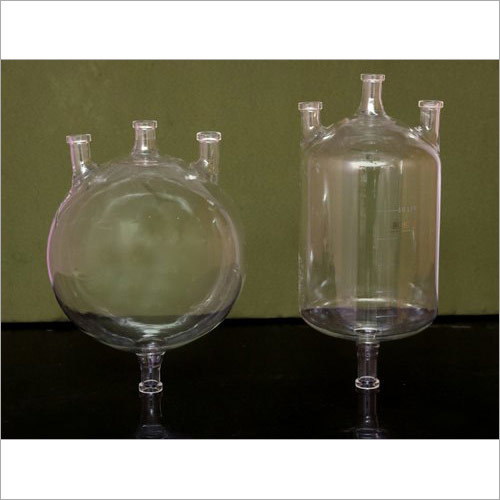Glass Cylindrical Vessel