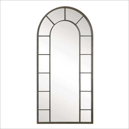 Arched Window Oval Mirror Frame