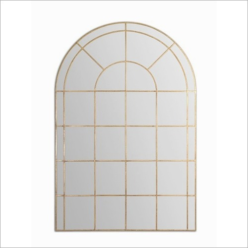 Arched Window Gold Mirror Frame