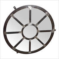Arched Window Circle Mirror Frame