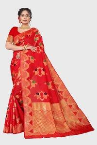 Jacquard Saris