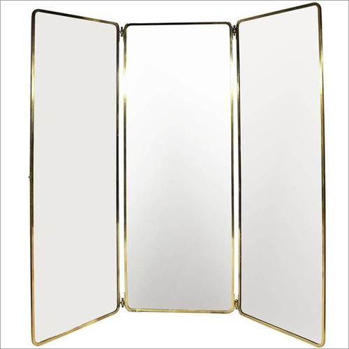 Brass Frame In Polished Brass Finish Mirror