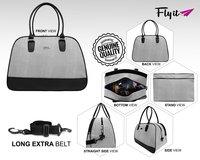 White &  Black Duffle Bag