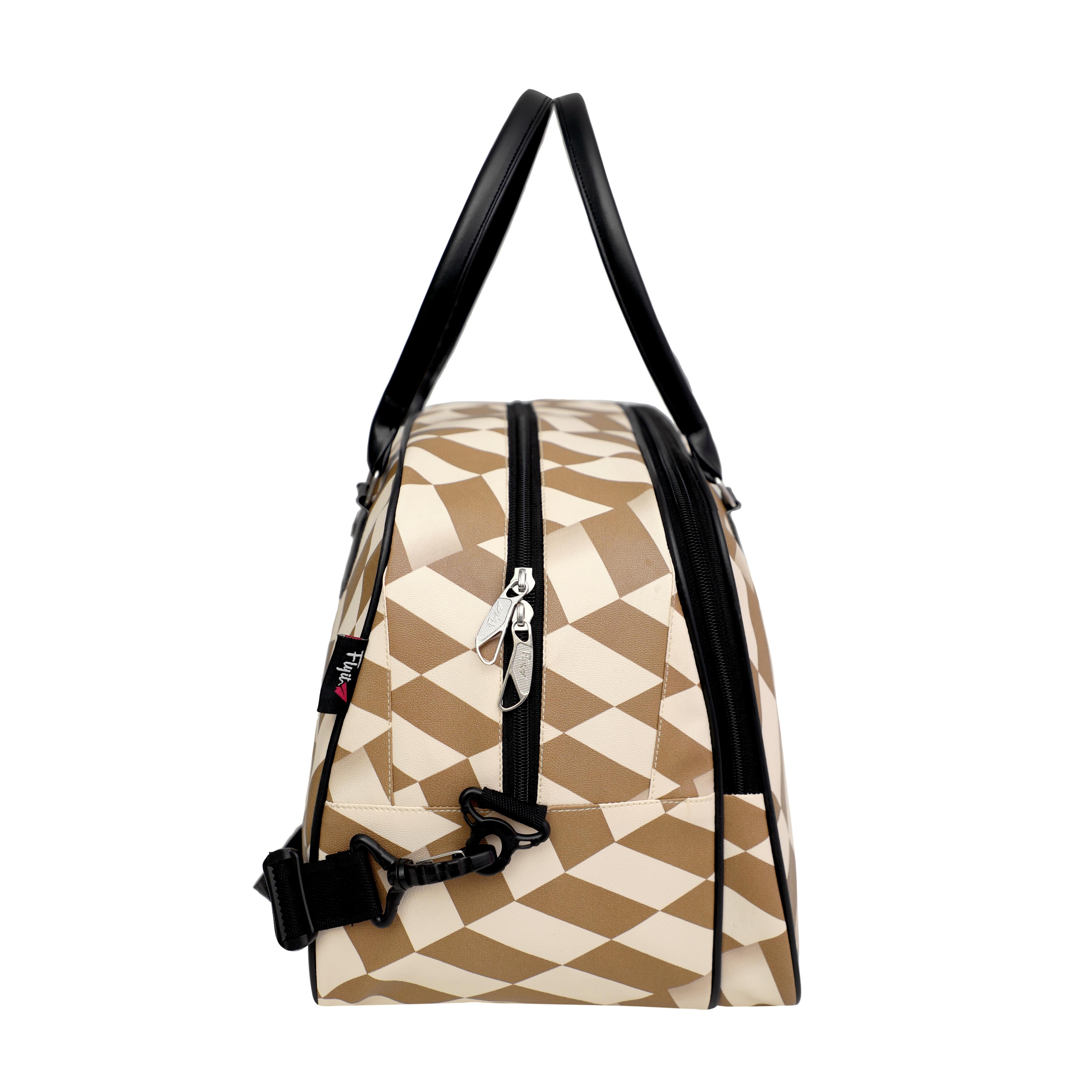 Zigzag Printed Duffle Bag