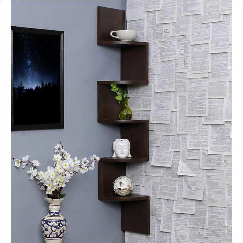 Zigzag Corner Wooden Wall Shelves
