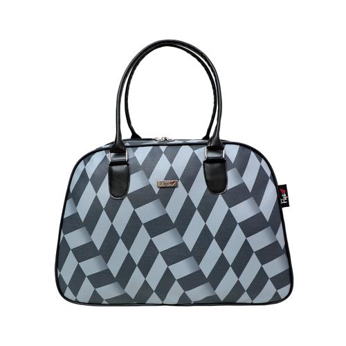 Grey Zigzag  Duffle Bag