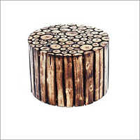 12x8 Inch Wooden Round Shape Stool