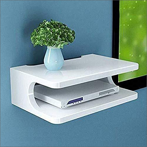 White Set Top Box And Wifi Router Stand