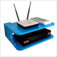 Blue Set Top Box And Wifi Router Stand