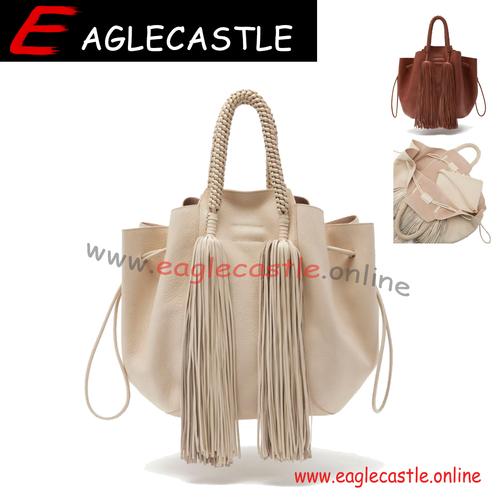 Personalized  Lady Handbag Wholesale Monogrammed Women Tote Bag Tassel PU Bag