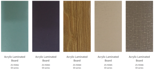 4H 6H Anti Scratch Acrylic Laminates  1220*2440mm Thickness 1.2mm 1.5mm)