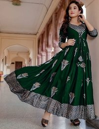 FANCY  RAYON PRINTED  KURTY COLLECTION