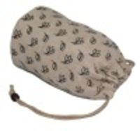 Round Shape Allover Print Cotton Lined Juco Drawstring Bag