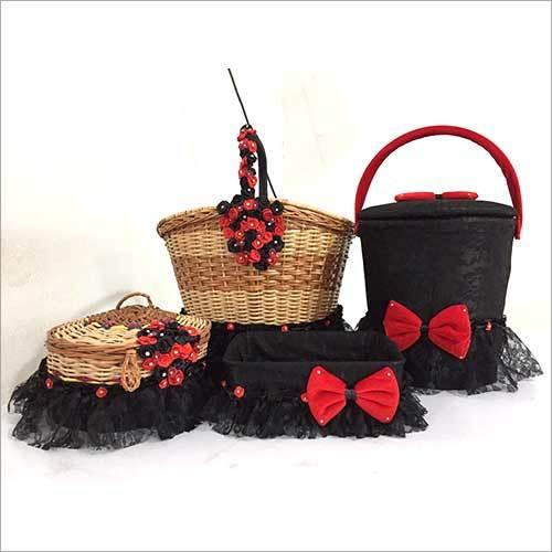 Baby Girl Bamboo Cradle Gift Set