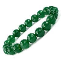 Prayosha Crystals Green Jade Bracelet