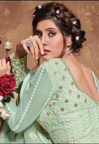 FANCY EMBROIDERY WORK GOWN  COLLECTION