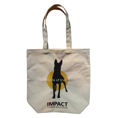 Self Handle Animal Logo Print Design 10 OZ Natural Canvas Tote Bag