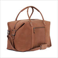 Brown Color Holdall Leather Bag