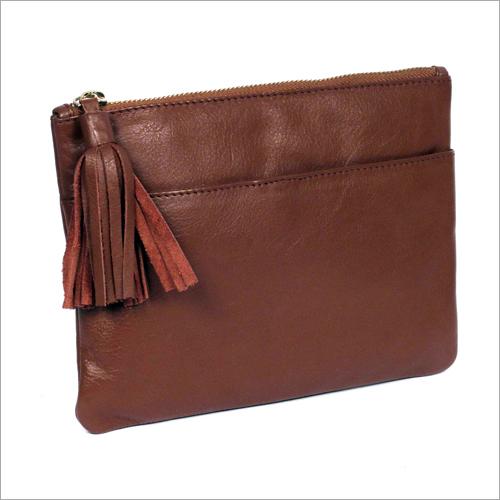 Handmade Leather Zipper Pouch