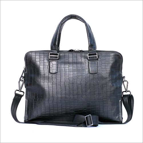Office Black Color Leather Bag