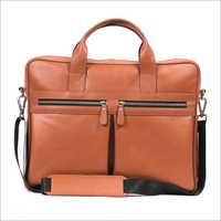 Brown Color Leather Portfolio Bag