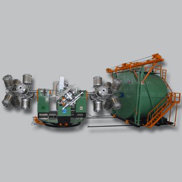 Four Arm Type Bi-axial Machine