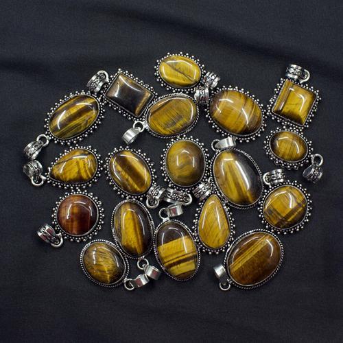 Tiger Eye Gemstone Pendant