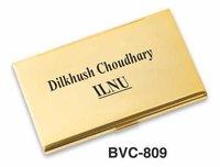 Golden Metal Card Holder
