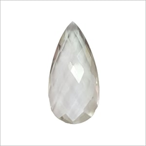 Pear Faceted Briolette Crystal Stone