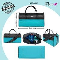 Stylish Leatherette Duffle Bag
