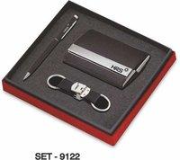 3 pcs Promotional Gift Set (Premium Keychain, Pen & Business card Holder)