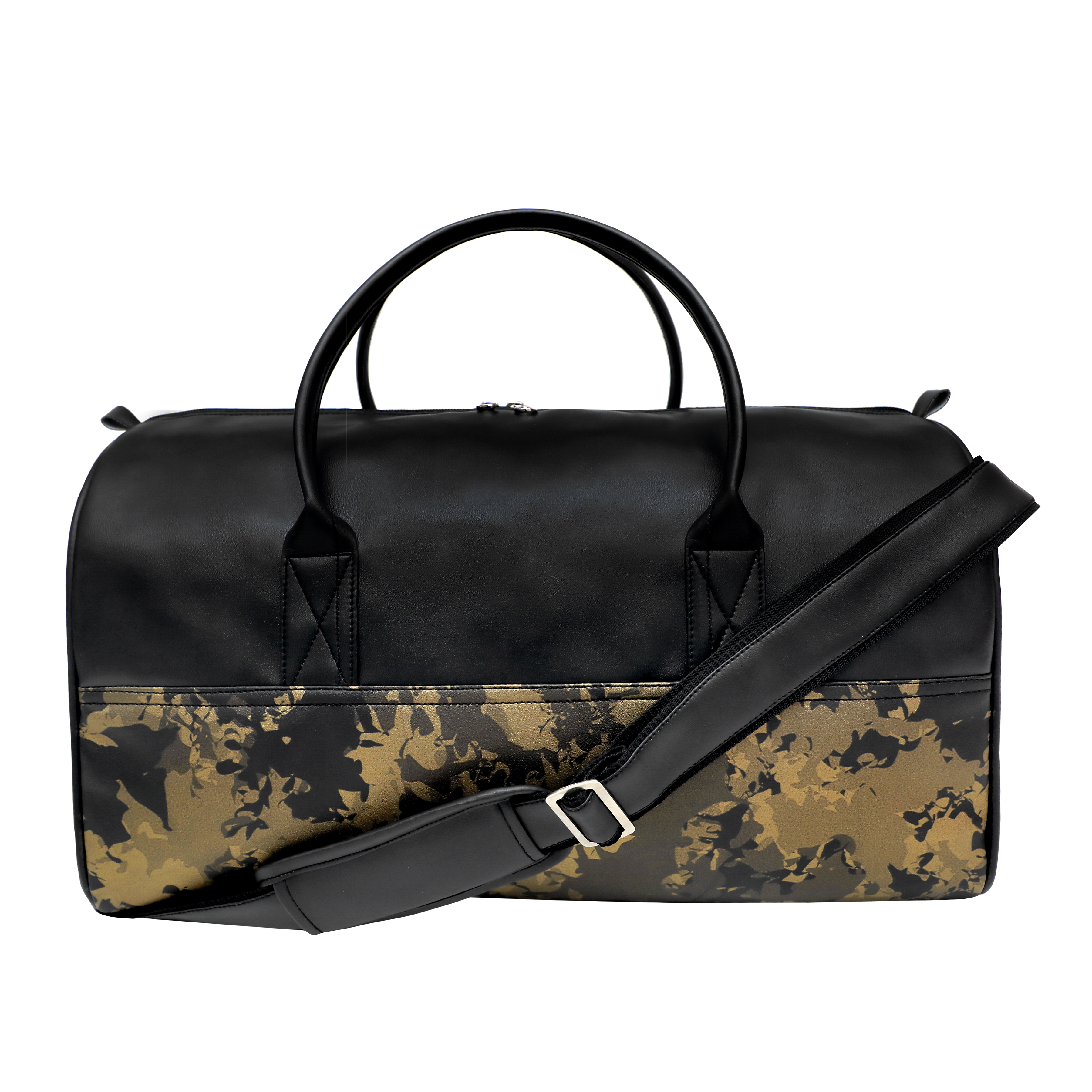 Textured Leatherette Duffle Bag