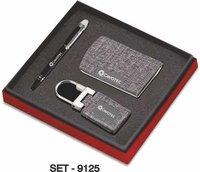 3 pcs Promotional Gift Set ( Leather Premium Keychain, Business card Holder & Pen )