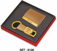 2 pcs Promotional Gift Set ( Leather Premium Keychain & Business card Holder)