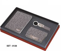3 pcs Promotional Gift Set ( Leather Premium Keychain, Business card Holder & Corporate Diary) )