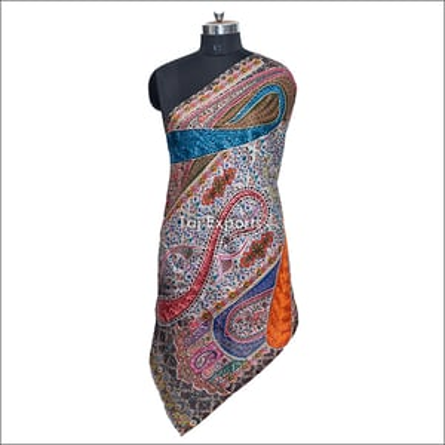 Embroidery Pattern Silk Wool Scarves