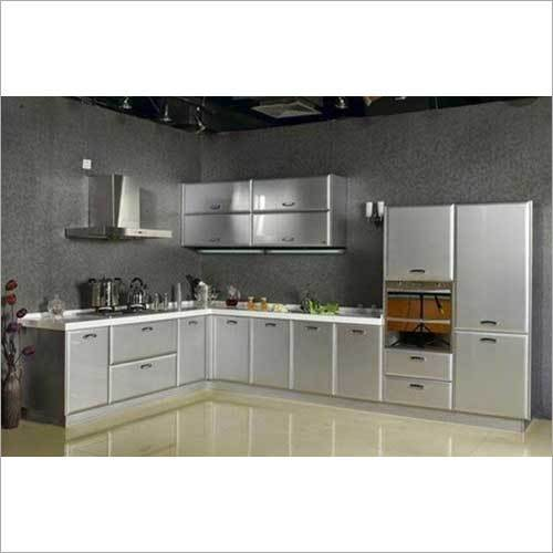 L Shape Stainless Steel Kitchen