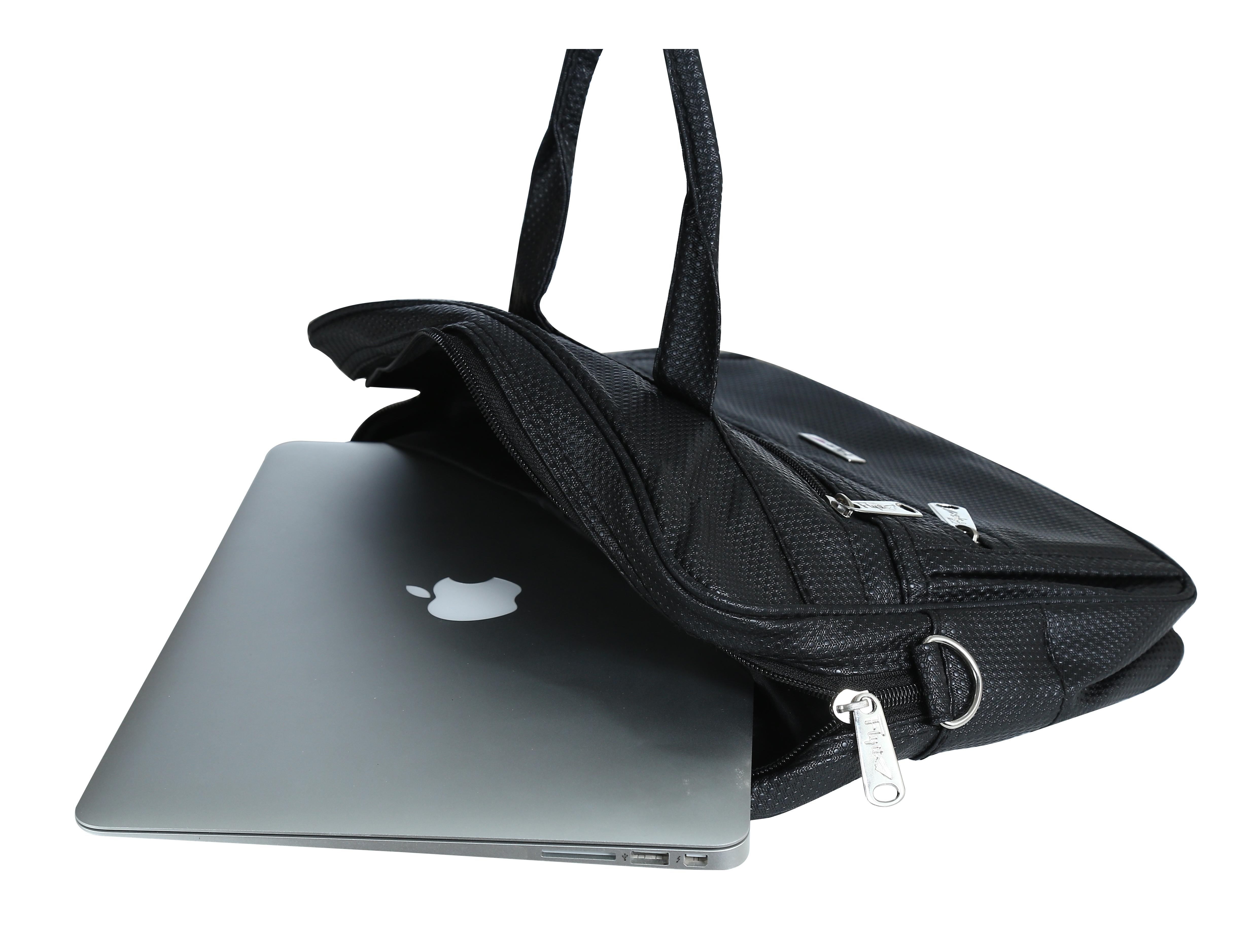 Dot Printed Laptop Bag