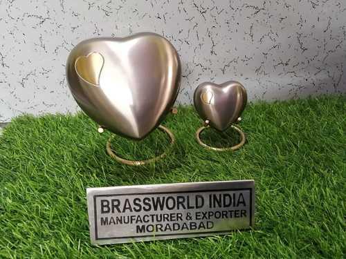 Brass Heart Engraved On Heart Keepsake Urn Funeral Supplies