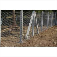 Chain Link Fencing With Cement Pol