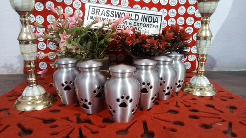 Aluminium Pet Paw Pet Cremation Urn Funeral Supplies