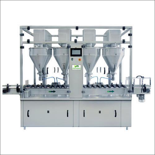 Automatic 4 Head Auger Base Powder Filling Machine
