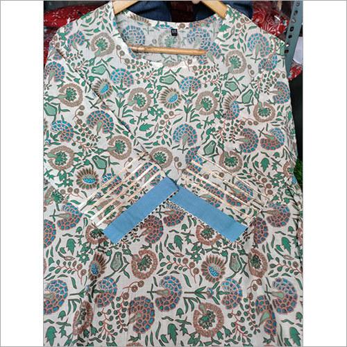 Cotten Kurta Gota lace Work